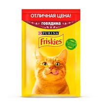 Friskies / Паучи Фрискис для кошек Говядина (цена за упаковку)
