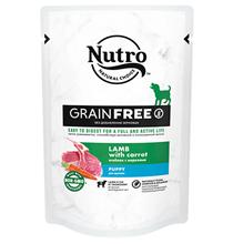 Nutro Puppy Lamb carrot Grain free / Беззерновые паучи Нютро для Щенков в возрасте от 1 месяца с Ягненком и Морковью (цена за упаковку)