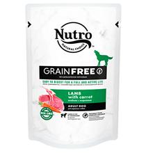 Nutro Adult Dog Lamb carrot Grain free / Беззерновые паучи Нютро для взрослых собак всех пород с Ягненком и Морковью (цена за упаковку)
