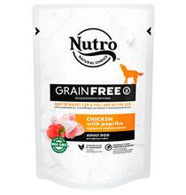 Nutro Adult Dog Chicken paprika Grain free / Беззерновые паучи Нютро для взрослых собак всех пород с Курицей и Сладким перцем (цена за упаковку)