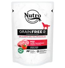 Nutro Adult Dog Beef tomatoes Grain free / Беззерновые паучи Нютро для взрослых собак всех пород с Говядиной и Томатами (цена за упаковку)
