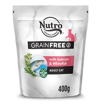 Nutro Adult Cat Salmon White Fish Grain free / Сухой Беззерновой корм Нютро для взрослых кошек с Лососем Белой рыбой и экстрактом Розмарина