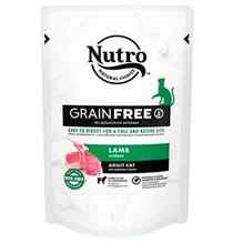 Nutro Adult Cat Lamb Grain free / Беззерновые паучи Нютро для взрослых кошек с Ягненком (цена за упаковку)