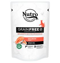 Nutro Adult Cat Salmon Grain free / Беззерновые паучи Нютро для взрослых кошек с Лососем (цена за упаковку)