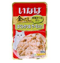 Inaba / Паучи Инаба для кошек Тунец Бонито Семга (цена за упаковку)
