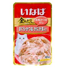 Inaba / Паучи Инаба для кошек Тунец Бонито Камчатский краб (цена за упаковку)