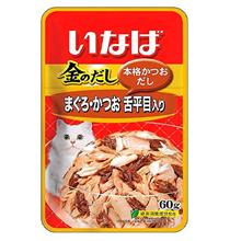 Inaba / Паучи Инаба для кошек Тихоокеанский Палтус Тунец Бонито (цена за упаковку)