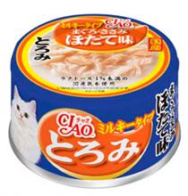 Inaba Ciao / Консервы Инаба для кошек Мраморный тунец в сливочном соусе, Гребешок, филе Курицы (цена за упаковку)