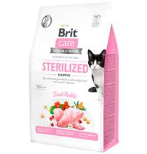 Brit Care Sterilized Sensitive Grain free / Сухой Беззерновой корм Брит для Стерилизованных кошек с Чувствительным пищеварением Кролик