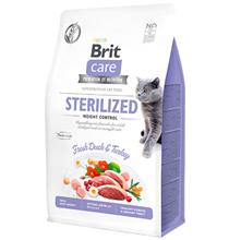 Brit Care Sterilized Weight Control Grain free / Сухой Беззерновой корм Брит для Стерилизованных кошек Контроль веса Утка Индейка