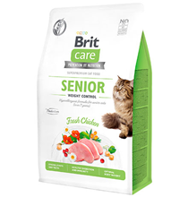 Brit Care Senior Weight Control Grain free / Сухой Беззерновой корм Брит для Пожилых кошек старше 7 лет Контроль веса Курица