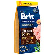 Brit Premium by Nature Adult M / Сухой корм Брит Премиум для взрослых собак Средних пород