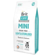Brit Care Adult Mini Grain free Light & Sterilised / Сухой Беззерновой корм Брит для Стерилизованных взрослых собак Мелких пород Низкокалорийный