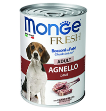 Monge Dog Fresh Adult Chunks in Loaf Lamb / Влажный корм Консервы Монж для взрослых собак Мясной рулет из Ягненка (цена за упаковку)