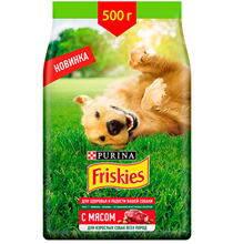Friskies / Сухой корм Фрискис для взрослых собак всех пород с Мясом