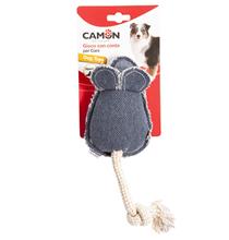 Camon / Игрушка Камон для собак Мышь плюшевая с пищалкой Цвета в ассортименте