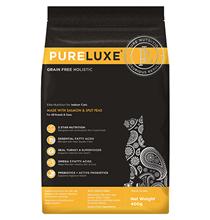 PureLuxe Cat Indoor Salmon Split Peas Grain free / Сухой Беззерновой корм ПьюаЛюкс для Домашних кошек Лосось горошек
