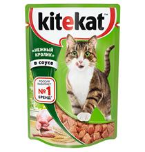 Kitekat / Паучи Китикет для кошек Нежный Кролик в соусе (цена за упаковку)