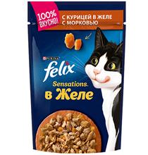 Felix Sensations / Паучи Феликс Сенсейшенс в желе с Курицей и Морковью (цена за упаковку)
