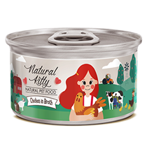 Pettric Natural Kitty Chicken in Broth / Беззерновые консервы Петрик для кошек Курица в бульоне (цена за упаковку)