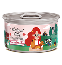 Pettric Natural Kitty Chicken with Tomato in Broth / Беззерновые консервы Петрик для кошек Курица с Томатом в бульоне (цена за упаковку)