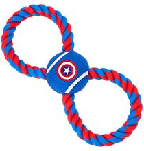 Buckle-Down / Мячик на веревке Бакл-Даун для собак Капитан Америка синий