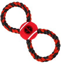 Buckle-Down / Мячик на веревке Бакл-Даун для собак Дэдпул красный