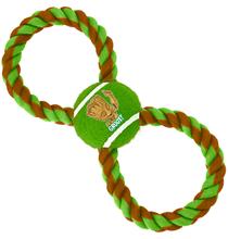 Buckle-Down / Мячик на веревке Бакл-Даун для собак Грут зелёный