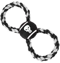 Buckle-Down / Мячик на веревке Бакл-Даун для собак Каратель чёрный