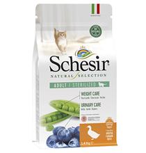 Schesir Natural Selection Cat Adult Sterilized Monoprotein Duck / Сухой Монопротеиновый корм Шезир для Стерилизованных кошек Утка