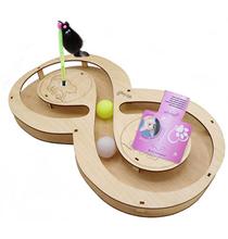 Glory Life / Игровой комплекс Глори Лайф для кошек Восьмерка с шариками c игрушкой на Пружине