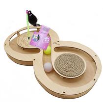 Glory Life / Игровой комплекс Глори Лайф для кошек Восьмерка с шариками c игрушкой на Пружине c Когтеточкой из Каната
