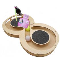 Glory Life / Игровой комплекс Глори Лайф для кошек Восьмерка с шариками c игрушкой на Пружине c Когтеточкой из Ковра