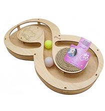 Glory Life / Игровой комплекс Глори Лайф для кошек Восьмерка с шариками c Когтеточкой из Каната