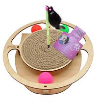 Glory Life / Игровой комплекс Глори Лайф для кошек Круг с шариками c игрушкой на Пружине c Когтеточкой из Каната
