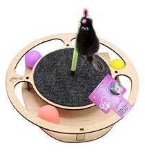 Glory Life / Игровой комплекс Глори Лайф для кошек Круг с шариками c игрушкой на Пружине c Когтеточкой из Ковра