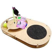 Glory Life / Игровой комплекс Глори Лайф для кошек Овал с шариками с площадкой из Ковра c игрушкой на Пружине