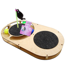 Glory Life / Игровой комплекс Глори Лайф для кошек Овал с шариками с площадкой из Ковра c игрушкой на Пружине c Когтеточкой из Ковра