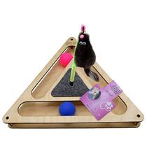 Glory Life / Игровой комплекс Глори Лайф для кошек Треугольник с шариками c игрушкой на Пружине c Когтеточкой из Ковра