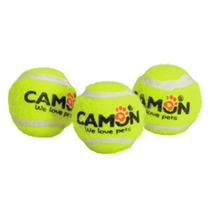 Camon / Игрушка Камон для собак Мяч теннисный с пищалкой D6,2 см