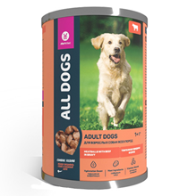 All Dogs / Консервы Ол Догс для собак Тефтельки с Говядиной в соусе (цена за упаковку)
