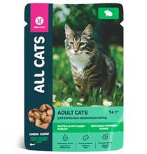 All Cats / Паучи Ол Кэтс для кошек Тефтельки с Кроликом в соусе (цена за упаковку)