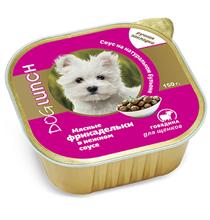 Dog Lunch / Консервы ДогЛанч для Щенков Мясные фрикадельки в нежном соусе Говядина (цена за упаковку)