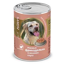 Dog Lunch / Консервы ДогЛанч для взрослых собак Фрикадельки в нежном соусе Баранина (цена за упаковку)