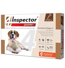 Inspector Quadro С / Капли Инспектор от Внешних и Внутренних паразитов для собак весом от 40 до 60 кг