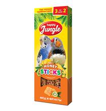 Happy Jungle Honey Sticks / Лакомство Хеппи Джангл для птиц Палочки Мед + Фрукты