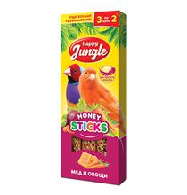 Happy Jungle Honey Sticks / Лакомство Хеппи Джангл для Канареек и Экзотов Палочки