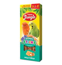 Happy Jungle Honey Sticks / Лакомство Хеппи Джангл для птиц Палочки Мед + Яйцо