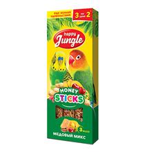 Happy Jungle Honey Sticks / Лакомство Хеппи Джангл для птиц Палочки Микс 3 вкуса