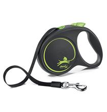 flexi Black Design L tape 5 m, for dogs up to 50 kg / Рулетка флекси для собак весом до 50 кг, лента 5 м